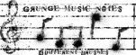 Grunge Music Note Brushes by Copy-n-Paste777