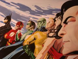 justice (alex ross cover ) by ARTIEFISHEL79