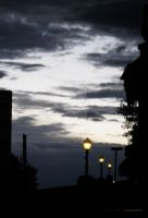 Street Lamps and Evening Light by Artistic-Vixen