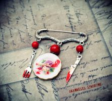 Cannibal Meal Brooch by Verope