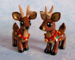 Christmas Reindeer by DragonsAndBeasties