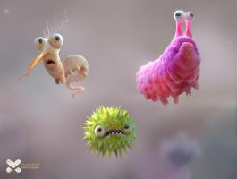 Microbes by maxkostenko