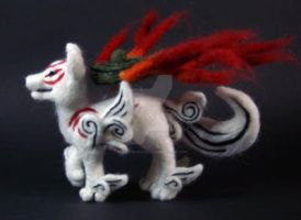 Okami Amaterasu Wolf Plush 3 by The-GoblinQueen