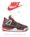 Air Jordan 4 Retro '89 'Elephant' by BBoyKai91