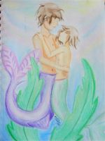 Mermaid Love by EmpressBlackWings