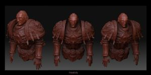 warhammer space marine 3d wip by PabelBilly