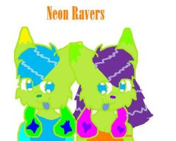 Neon Ravers by madithewulf
