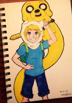 Finn and Jake by joannawentbananas