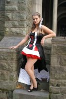 Queen of Hearts in Stairs by Shawn-Saylor