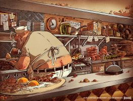 Greasy Spoon Kitchen by RobbVision