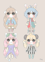 ON SALE! Adoptablesu {CLOSED!} by PillowHime
