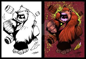 Donkey Kong w lines by dnmn89