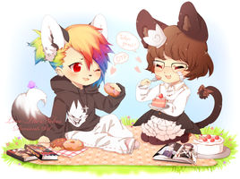 Picnic with my wife by Love-The-Nekos