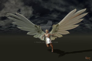 Dream Angel - landscape by feadil