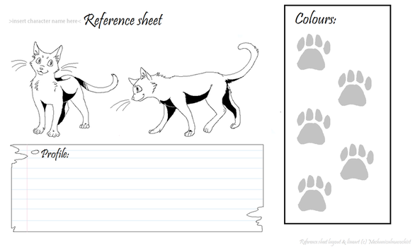 cat reference sheet lineart by mechanicalmasochist