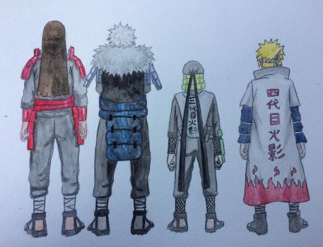 Outlined: Four hokage by seakliff