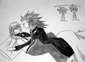 Axel Tangled in Riku by ayabrea