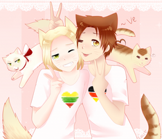 Neko! Poland and Italy [APH] by Casadee