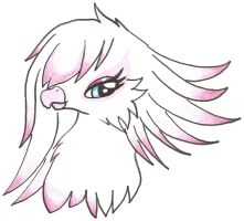 Me as a griffin XD just the head though by Ponyness1