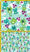 Frog Fabric Party by aimeekitty