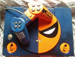 custom playStation, Deathstroke theme (with pad) by shorty-blue