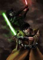 jedi vs sith by grubylopez