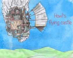 Howl's flying castle by CynicalCartoonist