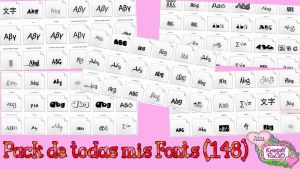 Pack de todas mis Fonts (148) by RoohEditions