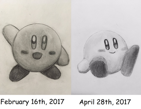 Kirby Before and After by CaptainEdwardTeague