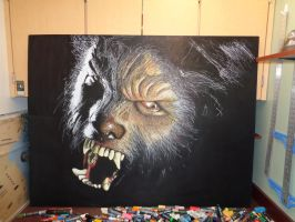 Wolfman in chalk! by Jimbosart8