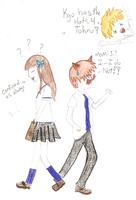 Kyo has the hots for Tohru by Victoria-Firewriath