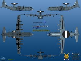 Lockheed E-130J-30 AWACS Warning Star II by haryopanji
