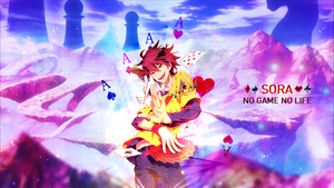Sora - No Game No Life Wallpaper by Kazubu