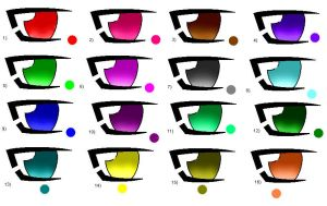 anime eye set 1 by element-dragonx