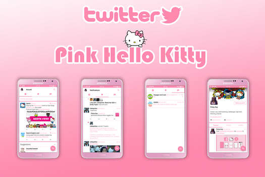 Pink Hello Kitty twitter Android by LadyPinkilicious