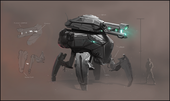 Walker Mech Concept by F87w