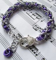 Purple and silver bracelet by TerraNovaJewels