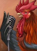 Gallo cantor by Meme-candia
