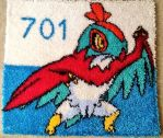 LATCH-HOOK RUG: Hawlucha! by DaCyanWaffle123