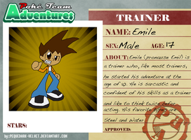 P.T.A. Trainer Card - Emile by Sonic-chaos