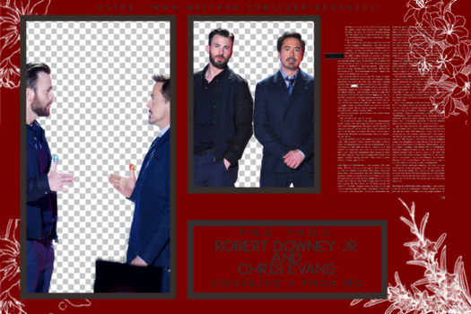 Robert Downey Jr ANd Chris Evans by paattryy