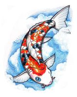 Koi in the Clouds by whiterose54