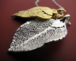 Rose leaves by JuneDesignsJewelry