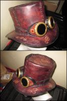 Steampunk hat with googles by akinra-workshop