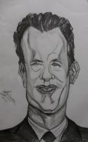 Caricature of Tom Hanks by Anita-Sanderson