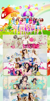 [MegaPSD] Happy SNSD 7th Debut Anniversary by MilkyMilli