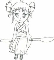 chibi botan not colored by StarDusties