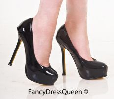 Black YSL Like Tribute Designer Shoes by fancydressqueen