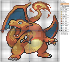 Pokemon - Charizard II by Makibird-Stitching