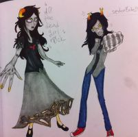 Aradia and Vriska by InuXKag4ever